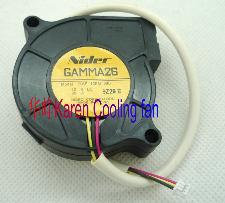 Nidec 5CM D05F-12PM 08B 5015 12V 0.09A 3WIRE BLOWER cooling fan nmb 3610kl 05w b49 9225 24v 3 wire cooling fan blower