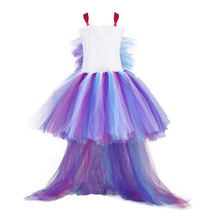 Little Girl Pony Dress for Kids Christmas Birthday Party Tutu Child Knee Length Long Tail Horse Cosplay