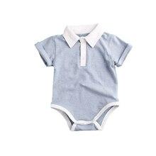 Bodysuit do bebê para meninos 2018 crianças de verão camisas Roupas Bebes newborn jumpersuit roupa do bebê Meninas Vestidos de manga curta