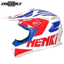 NENKI Мотокросс Off-Road Шлем со Съемным Козырьком Стекловолокна Оболочки Мотоцикл ATV Байк MX DH Гонки шлем