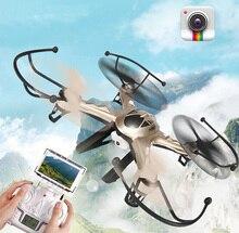 Mais novo 2.4G 6 Eixos Giroscópio WI-FI FPV Quadcopter micro zangão com câmera HD profissional câmera helicóptero