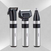 3 in1 Elektryczny Akumulator Depilacja Twarzy Brwi Ear Nose Trymer dla Mężczyzn Trimerem wodoodporna bezpieczne i trwałe brody