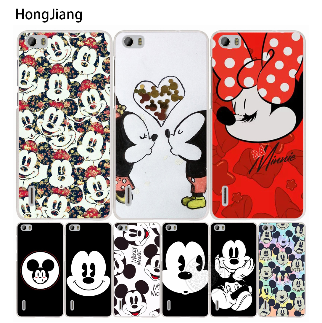 HongJiang Mickey Minnie Funny Face <font><b>cell</b></font> <font><b>phone</b></font> Cover Case for <font><b>huawei</b></font> honor 3C 4A 4X 4C 5X 6 7 8 <font><b>Y6</b></font> Y5 2 II
