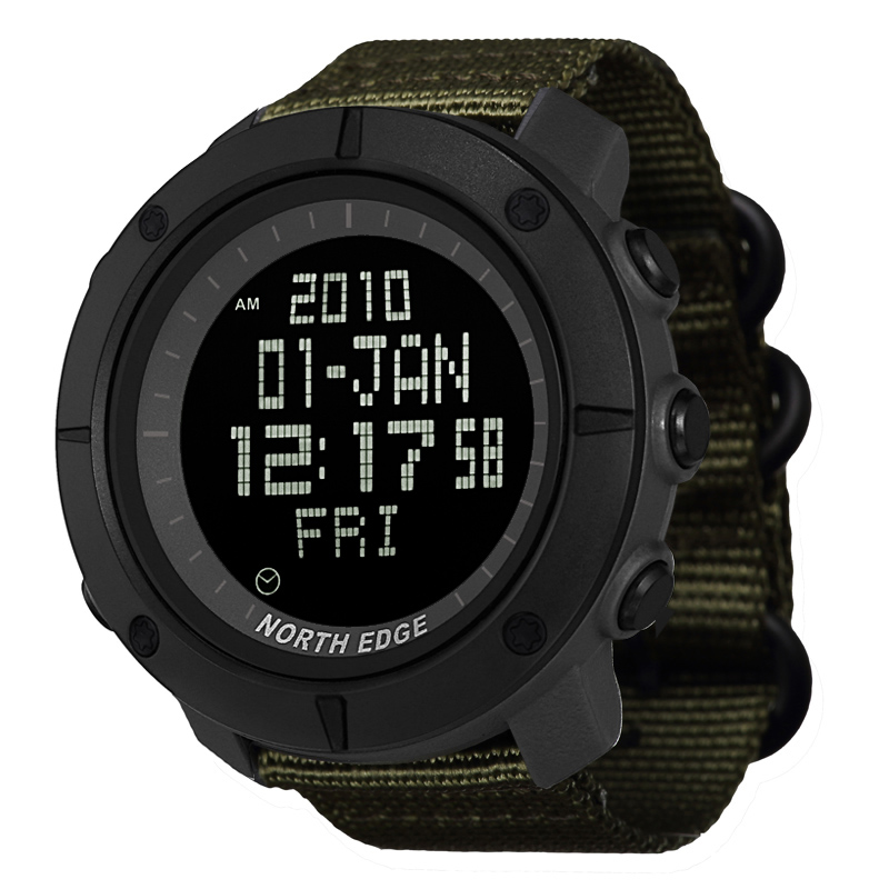 NORTH EDGE Men's Sports Digital Watch Hours For Running Swimming Military Army Watches Water Resistant 50m Stopwatch Timer(China)