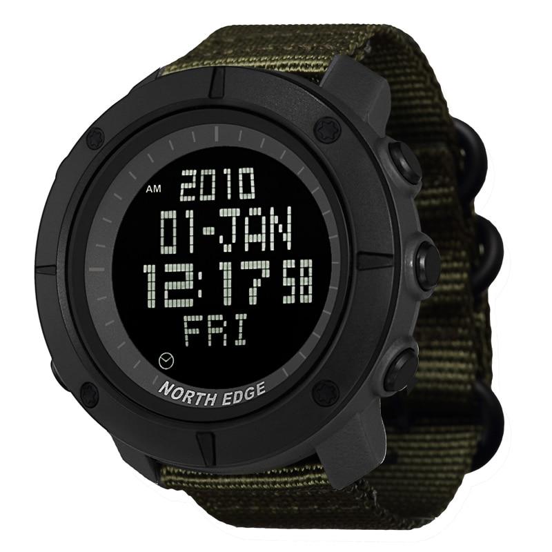 NORTE BORDA sports Digital assista Horas para Funcionamento da Natação dos homens do exército militar relógios resistentes à água 50m cronômetro temporizador