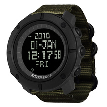 NORTH EDGE Mens sports Digital watch Hours for Running Swimming military army watches water resistant 50m stopwatch timer