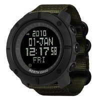 NORTH EDGE Men's sports Digital watch Hours for Running Swimming military army watches water resistant 50m stopwatch timer