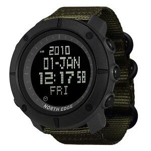 Image 1 - NORTH EDGE hommes sport montre numérique heures pour la course à pied natation armée militaire montres résistant à leau 50m chronomètre minuteur