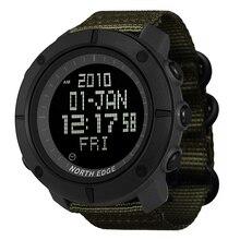 NORTH EDGE ผู้ชายกีฬาดิจิตอลนาฬิกานาฬิกาสำหรับวิ่งว่ายน้ำกองทัพทหารนาฬิกากันน้ำ 50 M นาฬิกาจับเวลา