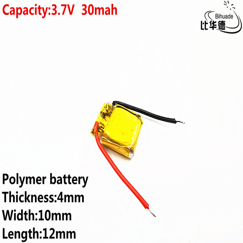 Liter Energy Battery Good Qulity 3.7v Polymer Lithium Battery 30mah 401012 Is Suitable For I7 Bluetooth Headset MP3 MP4