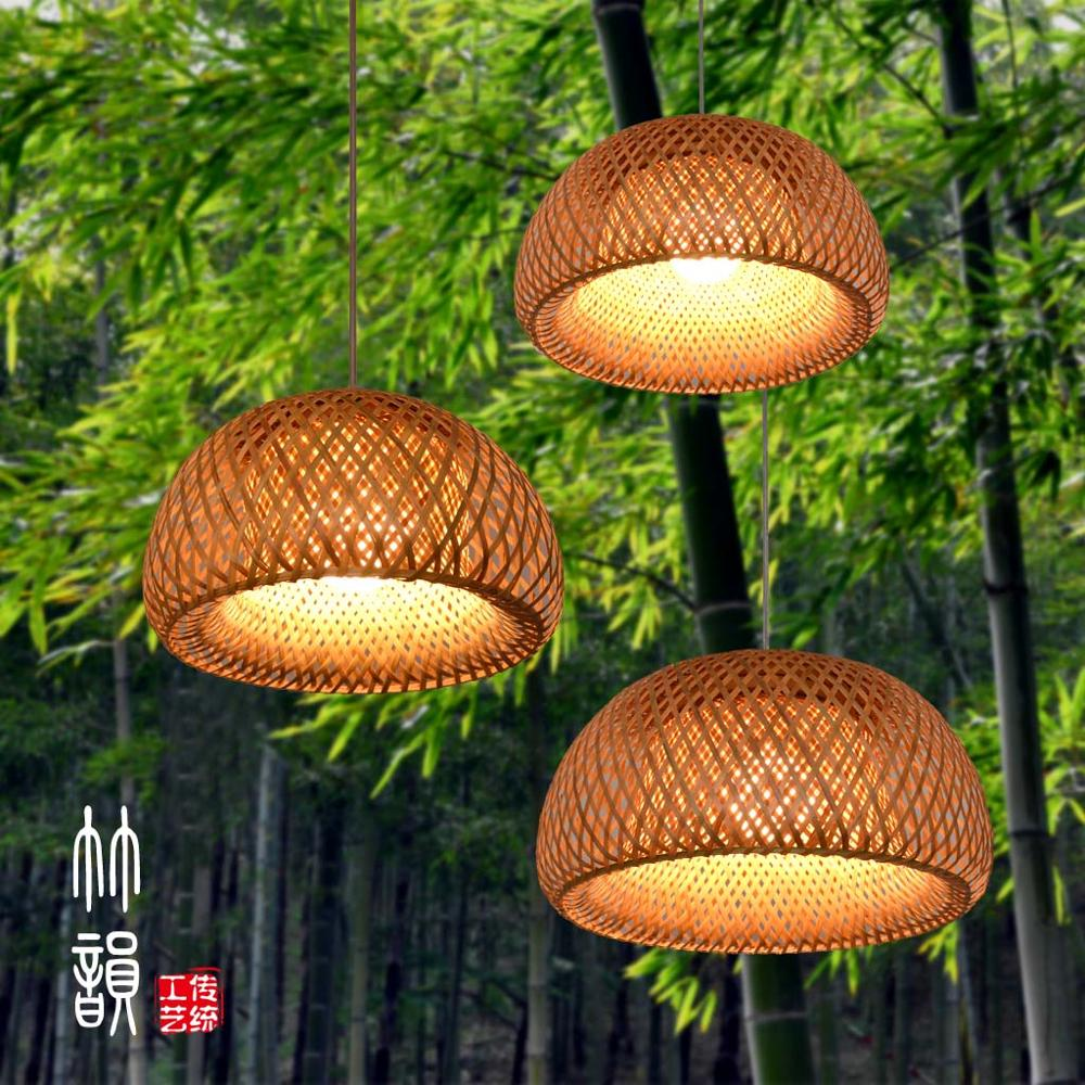 Chinese bamboo chandelier creative dining room living room bedroom balcony lamps zb26 bamboo bedroom pendant lights balcony