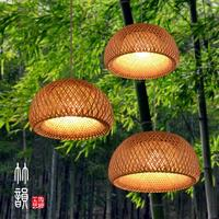Chinese bamboo chandelier creative dining room living room bedroom balcony lamps Handmade bamboo Chandelier zb26