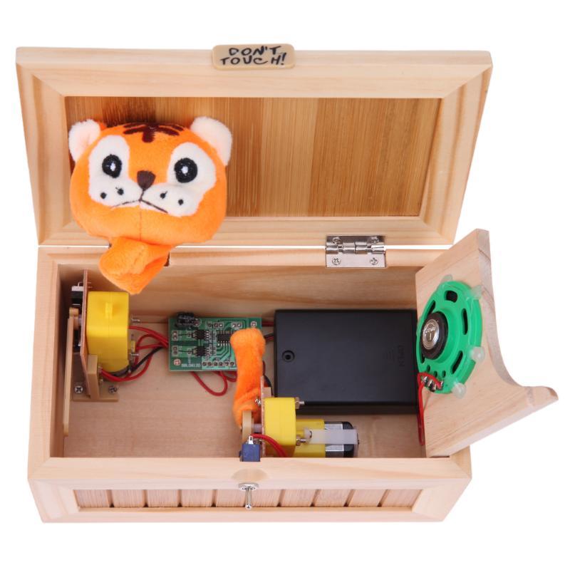 Super Drôle Anti Stress Nul Box Avec Son Nouveauté Jouets Mini Électronique Nul Box Drôle Tigre Délicat Jouets Surprise Blague - 6