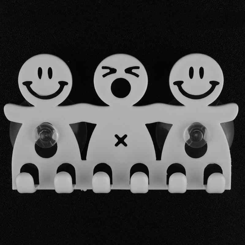 Spazzolino da denti Ganci di Aspirazione Titolare di Viaggio Del Basamento Toilette Rasoio Dell'organizzatore 5 Posizione Spazzolino Da Denti Rack di Stoccaggio Accessori Per il Bagno