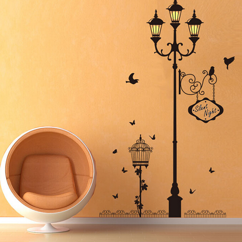 Personality lamp wall stickers kids room entrance hall decorations TV background wall stickers living room wall pictures