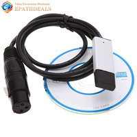 Mini USB To DMX Interface Adapter LED DMX512 Studio Computer PC Stage Lighting Controller Dimmer