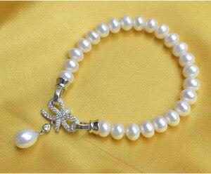 Image 3 - ZHBORUINI ensemble de bijoux en perles, deau douce naturelle, nœuds, en argent Sterling 925, collier en perles, boucles doreilles, Bracelet pour femmes, idée cadeau