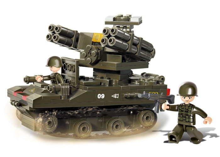 Sluban Military Series Army Tank Building Blocks Bricks Sets toys Minifigures Gift Compatible With Lego 20