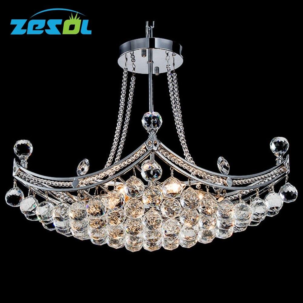ZESOL Moderní křišťálový lustr osvětlení stropní lampa transparentní barva pro obývací pokoj