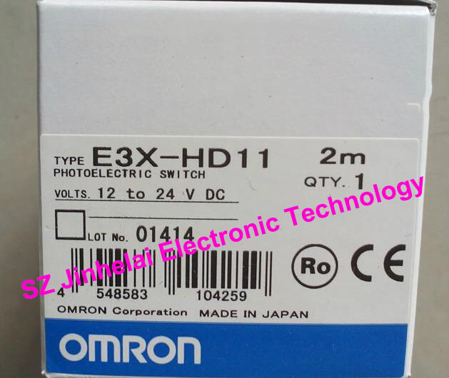 New and original  E3X-HD11  ORMON  Photoelectric switch   Optical fiber amplifier    12-24VDC   2M 100% new and original e3x na11 e3x zd41 omron photoelectric switch 12 24vdc 2m