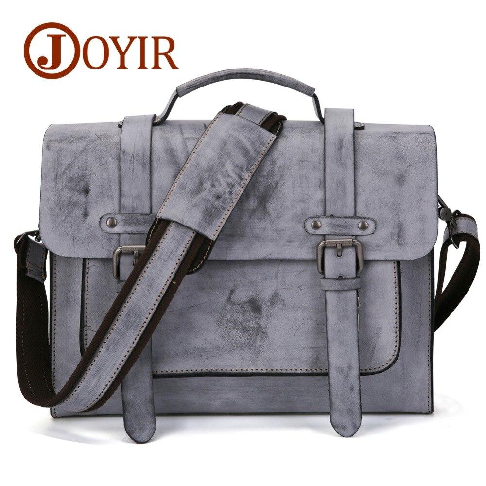 JOYIR New Luxury Brand Genuine Leather Men Briefcase Messenger Bag Vintage Men's Business Bag Casual Travel Shoulder Bag For Men цена 2017