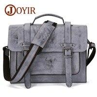 JOYIR New Luxury Brand Genuine Leather Men Briefcase Messenger Bag Vintage Men's Business Bag Casual Travel Shoulder Bag For Men