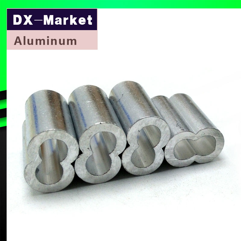 Ξ8mm , 20pcs/lot , Wire Rope Aluminium Clamp , wire rope ferrules - a297