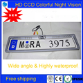 2016 Frete Grátis! Europeia moldura da placa de licença Reverso Retrovisor backup Câmera Do Carro CCD