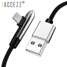 !ACCEZZ Micro USB Cable Elbow Fast Charging For Huawei Samsung Xiaomi Tablet Data Sync Android Mobile Phone Microusb Charge Line