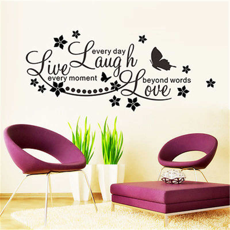 Diy Live Laugh Love Quote Vinyl Decal Removable Wall Stickers Living
