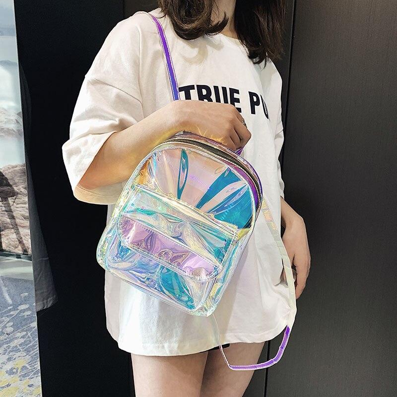 85ec73cc6116 Meloke 2019 новые женские Голограмма Рюкзак лазерные рюкзаки женские ...