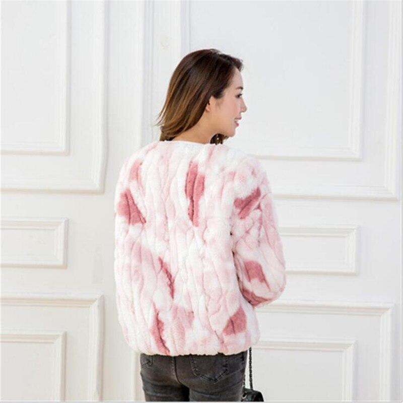 Rex Pullover Imitazione Comprarlo Lusso Fur Inverno Donne Pls 2017 Allentato Pink Delle Coniglio Di grey Jacket Faux Cappotto Caldo Donna Pelliccia ZddxfqT6