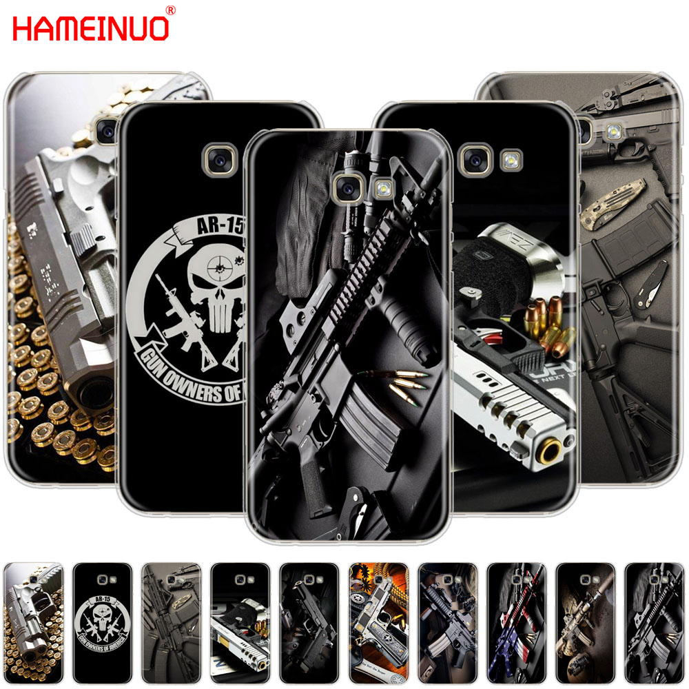Half-wrapped Case Methodical Nice Weapons Rifle Guns Sniper Pistol Bullet Cell Phone Case Cover For Samsung Galaxy A3 A310 A5 A510 A7 A8 A9 2016 2017 2018