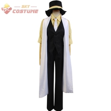 Vocaloid Trickery Casino Uniform Shirt Vest Pants Wrap Hat Full Set Anime Halloween Cosplay Costumes For Men Custom