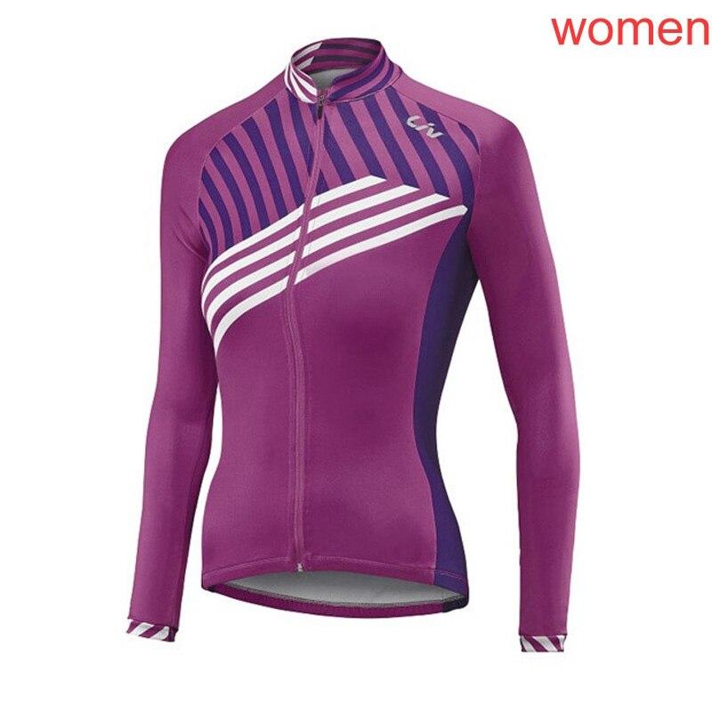 Femmes cyclisme Jersey manches longues fermeture éclair complète vtt vélo chemise printemps automne route vélo hauts Cycle vêtements maillot Ciclismo Y4012