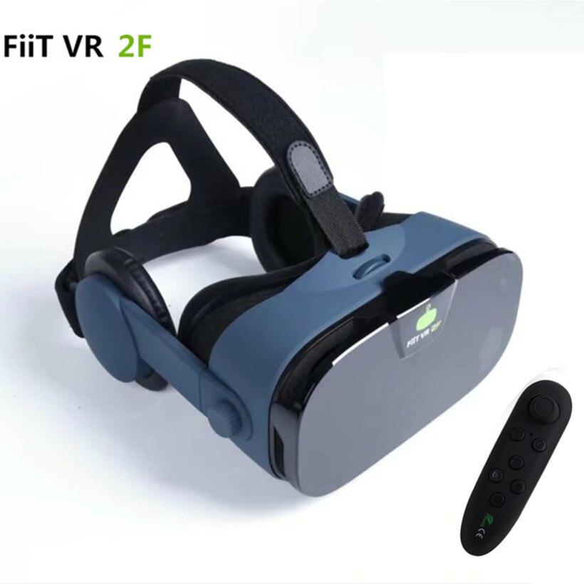 """FiiT <font><b>VR</b></font> 2F <font><b>Virtual</b></font> <font><b>Reality</b></font> <font><b>Glasses</b></font> 3d Helmet <font><b>Box</b></font> <font><b>vr</b></font> <font><b>Mobile</b></font> 3D <font><b>Video</b></font> <font><b>Glasses</b></font> <font><b>Vr</b></font> with Headset For 4.0-6.33"""" Smartphone+Controller"""