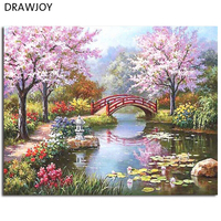 Morden Landscape Frameless Pictures DIY Painting By Numbers Home Decor For Living Room Canvas Oil Painting