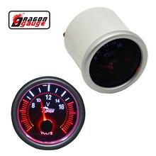 Дракон манометр автомобиля 52 мм указатель белая подсветка авто мотор Напряжение метр вольт мотоцикл Калибр блок 8-16 В