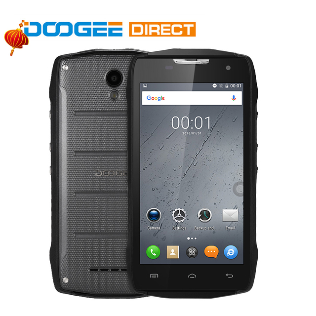"DOOGEE T5S Waterproof Shockproof 4G 4500mAh OTG Smartphone Android 6.0 MTK6735 Quad Core 5.0"" 1280*720 2GB+16GB 8MP Mobile Phone"