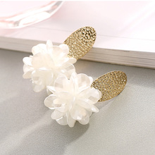New Korean Style Handmade White Flowers Earrings Vintage Statement Earings Fashion Jewelry Bridal Earring For Women Wedding Gift