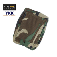 Cordura Woodland Folding 330 Tactical MOLLE Medical Pouch Waist Pack+Free shipping(XTC051024)