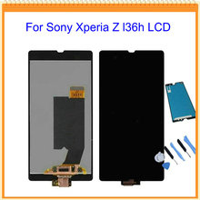 For Sony Xperia Z L36h C6606 C6603 C6602 C660x c6601 LCD Display with Touch Screen + Touch Glue + tools Free Shipping