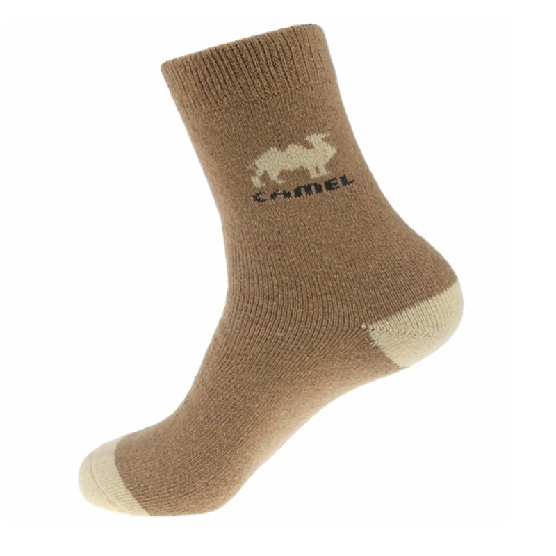1 Pair Winter Men   Socks   Casual Combed Cotton Breathable Free Size   Socks   Male High Quality Camel Pattern Khaki Color   Socks