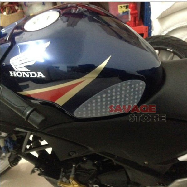 For HONDA CBR250R 2010-2013, <font><b>CBR300R</b></font> 2014-2015 Motorcycle Tank Traction Pad Gas Knee Grip Protector Anti slip <font><b>sticker</b></font> 3M Clear image