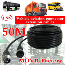 Vehicle monitoring aviation head wire 50m automobile air connector extension cable factory direct batch copper waterproof