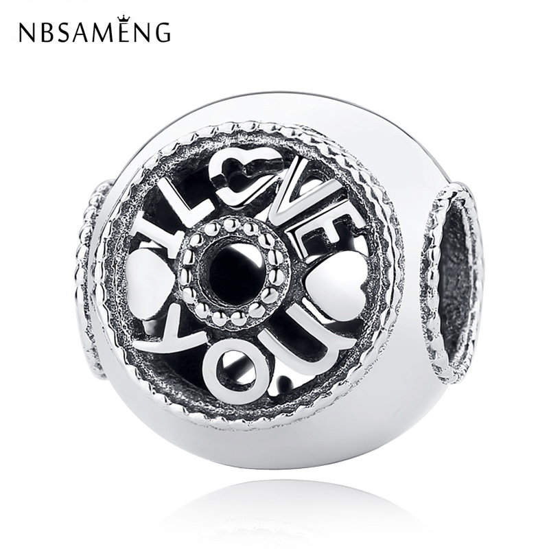 331e126be New Authentic 925 Sterling Silver Charm Bead Softball Rose Love Hollow  Charms Fit Pandora Charm Bracelets Women DIY Jewelry