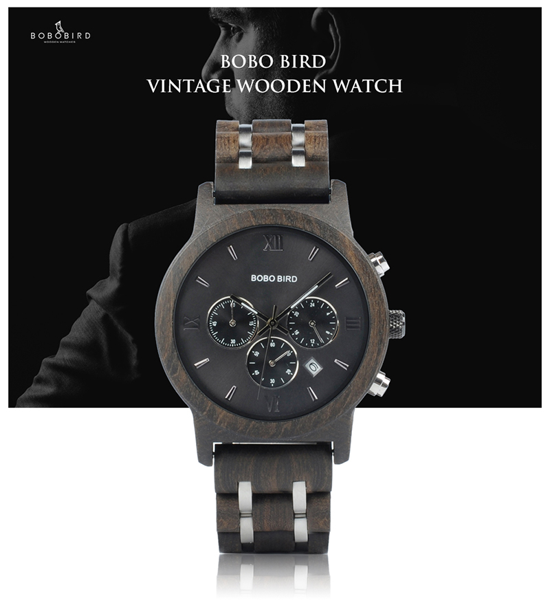 BOBO BIRD Luxury Quartz Wrist Watch for Men - P19 7