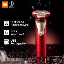 SOOCAS S3 Xiaomi электробритва для мужчин 3 режущая головка для сухого влажного бритья Беспроводная USB перезаряжаемая Водонепроницаемая бритва