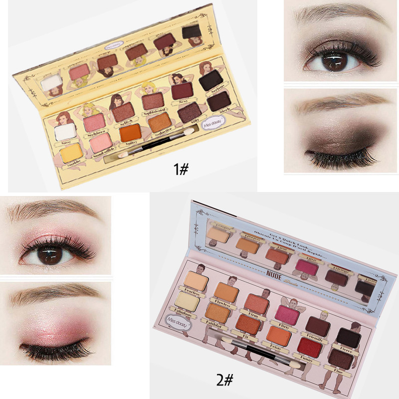 Faithful Ucanbe Brand New Nude Eyeshadow Palette 18 Colors Glitter Matte Shimmer Shades Rosy Pink Eye Shadow Waterproof Beauty Makeup Kit Beauty Essentials