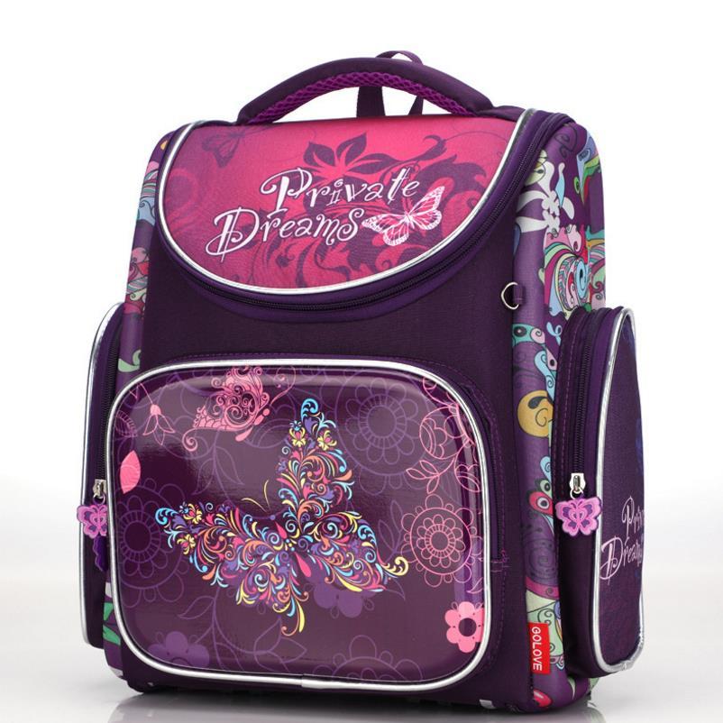 Новинка, модель высокого качества детские школьные сумки бабочки мальчиков школьный рюкзак для девочек ортопедические Водонепроницаемый ...